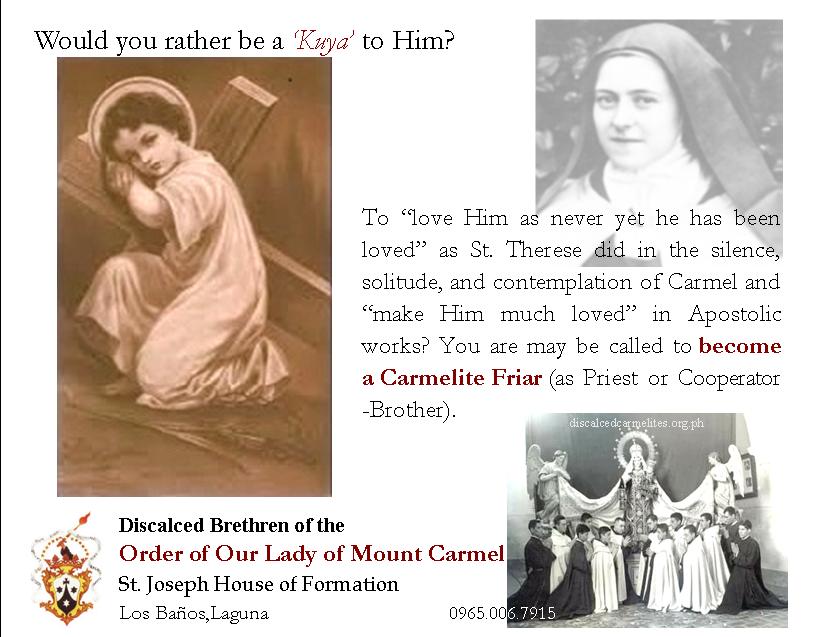 Vocations – Discalced Carmelites – Philippines